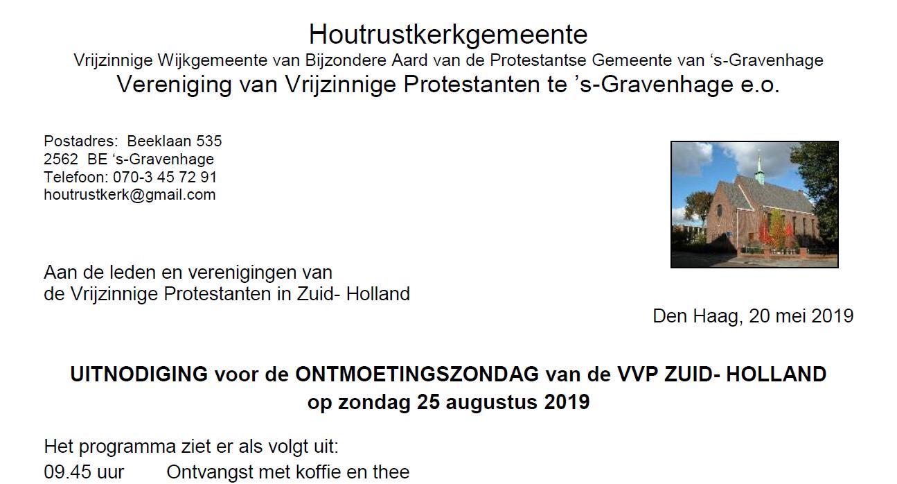 Uitnodiging VVP ontmoetingsdag 2019