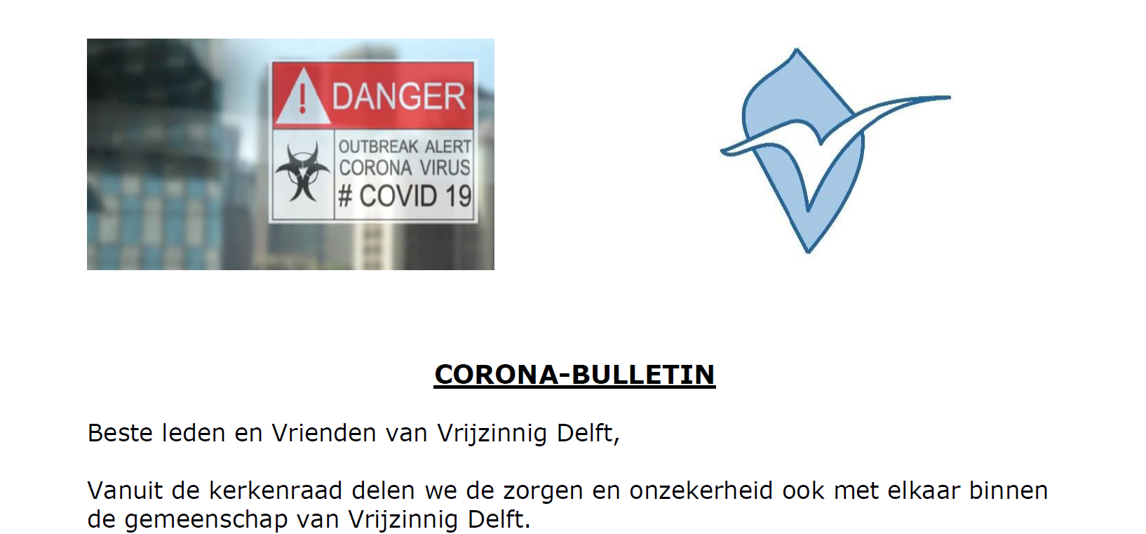 Corona Bulletin 17 maart 2020